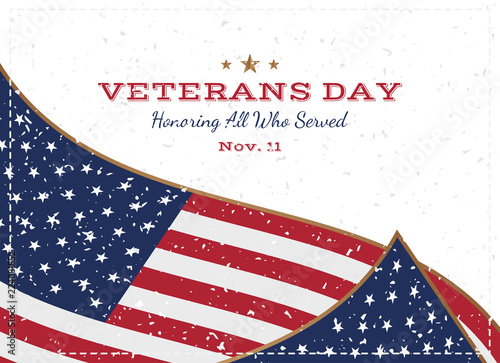 Veterans day greeting card with usa flag on background with texture veterans day greeting card with usa flag on background with texture national american holiday m4hsunfo