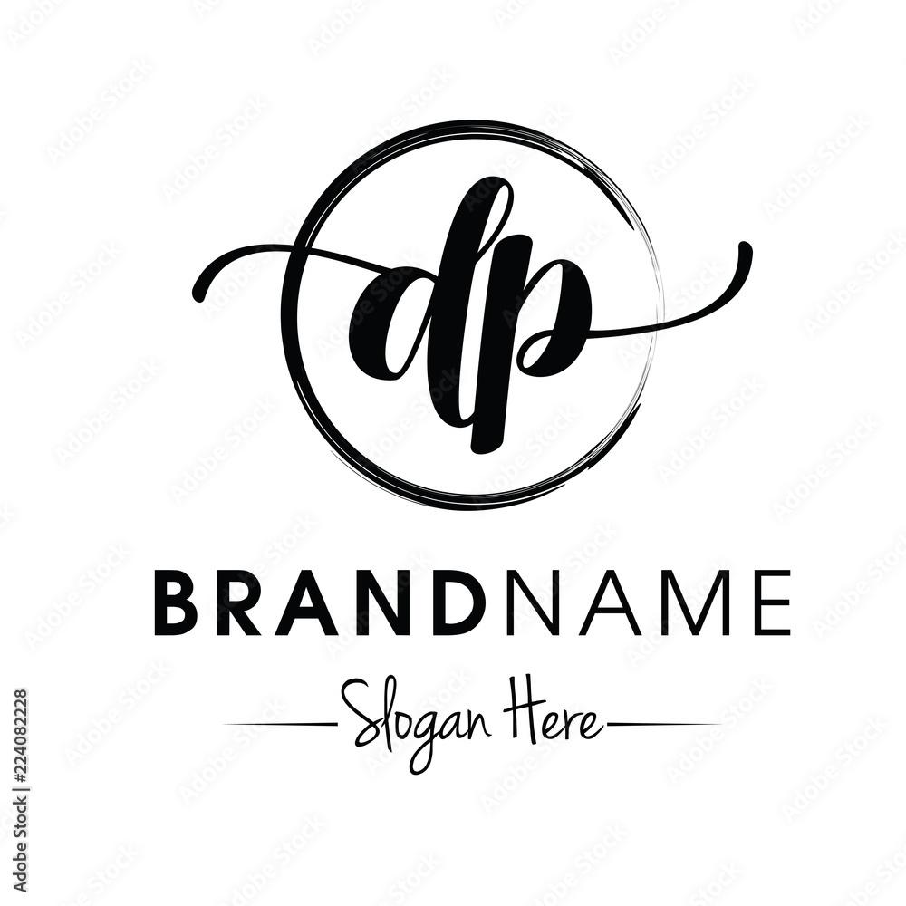 Fototapety, obrazy: Monogram / Initial dp typography logo design inspiration vector