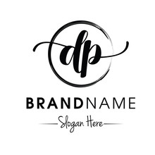 Monogram / Initial Dp Typography Logo Design Inspiration Vector