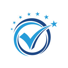 Vote Star And Check Mark Logo Design Inspiration