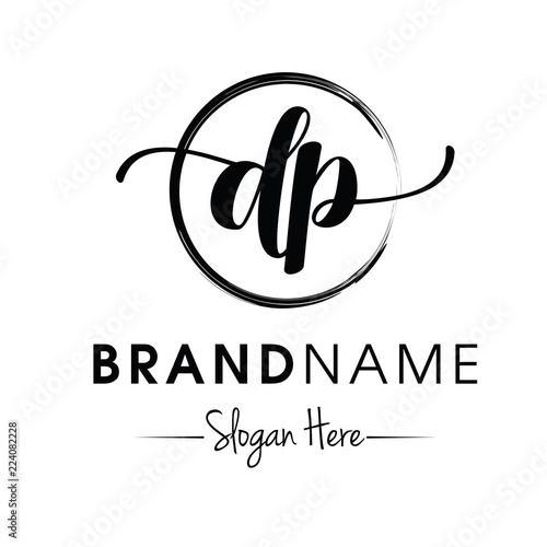 Obraz Monogram / Initial dp typography logo design inspiration vector - fototapety do salonu