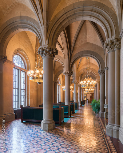 Fotografie, Tablou  State Senate lounge and corridor inside the New York State Capitol in Albany