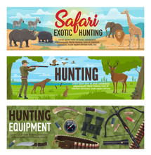 African Safari And Forest Hunt...