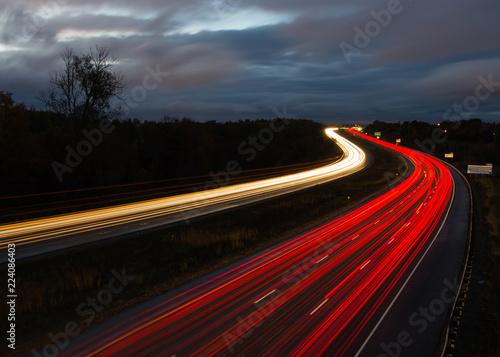 Fototapety, obrazy: Light trails