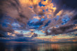 canvas print picture Beautiful High Dynamic and high definition Clouds over Lake Superior