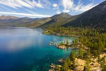 Aerial View Of Lake Tahoe Shor...