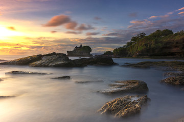 Fototapeta Sunset at Tanah Lot