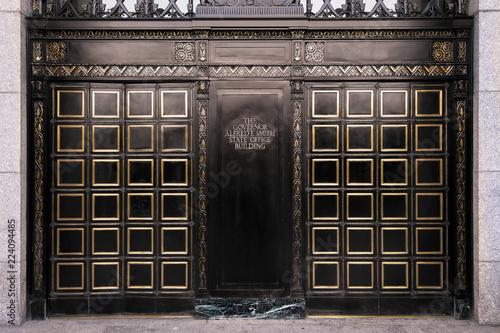 Fotografia, Obraz  Front entrance doors to the Alfred E