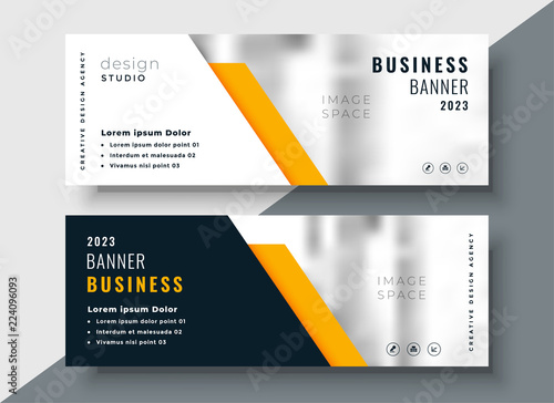 elegant yellow professional business banner template Fototapet