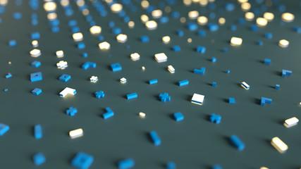 Abstract random symbols 3D render