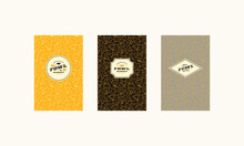 Set Of Cover, Label, Logo And Seamless Pattern  For Fowl Market