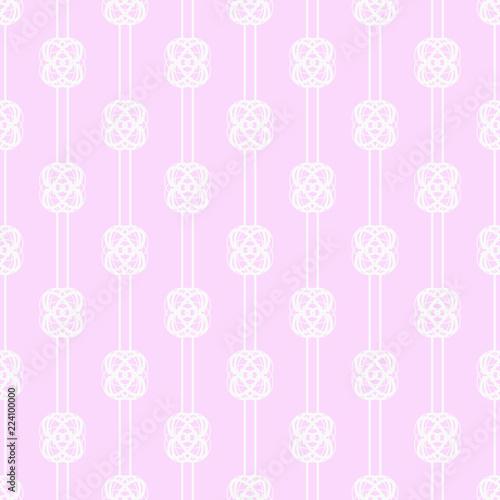 Poster Kunstmatig Geometric seamless pattern. Chain, lace
