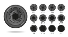 Aperture Icon Set With Value N...