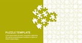 Jigsaw puzzle background with white pieces. Abstract mosaic template. Vector illustration.