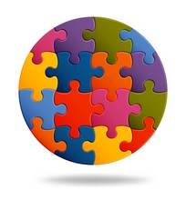 Jigsaw Puzzle Background With ...