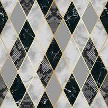 Marble And Snakeskin Luxury Geometric Seamless Pattern