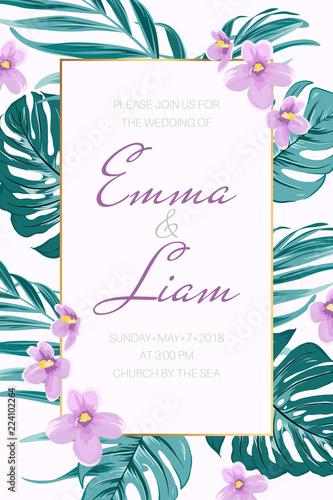 Fotografie, Obraz  Wedding event invitation card template