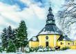 canvas print picture - Bergkirche Seiffen Erzgebirge