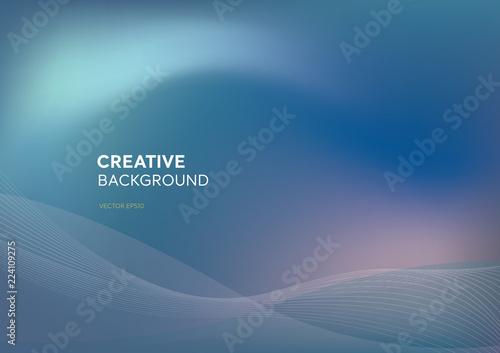 Fotografiet  Abstract futuristic blend purplish blue dynamic creative background