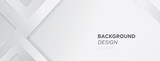 Modern white gray abstract web banner background creative design