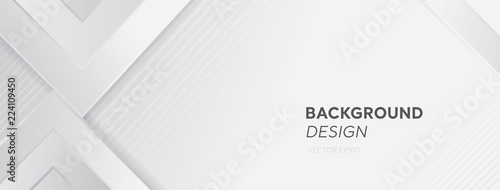 Obraz na plátne Modern white gray abstract web banner background creative design