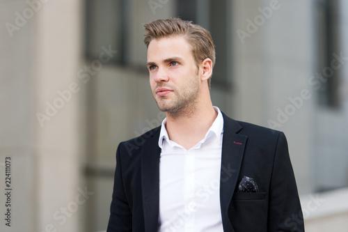 Photographie  Businessman looking forward future opportunity