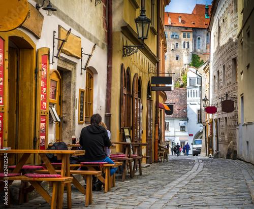 Obraz na plátně  The amazing city of Cesky Krumlov in the Czech Republic