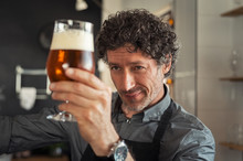Man Checking Beer Quality