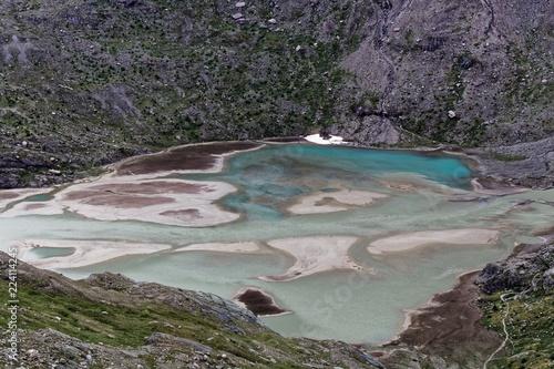 Glacier lake at the Pasterze glacier in the Austrian Alps.