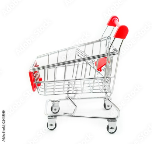 Fotografía  Cart for supermarket with isolated background