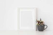 Elegant White A5 Portrait Fram...