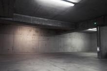 Abstract Empty Garage Interior...