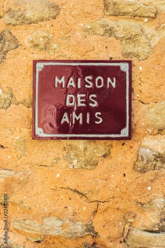 Valokuva  Plaque en céramique Maison des Amis