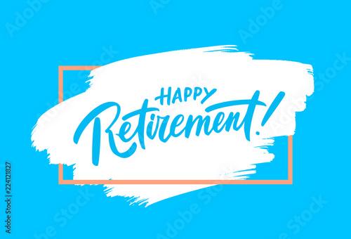 Fototapeta Happy retirement. Party invitation. obraz