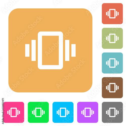 Fotografie, Obraz  Smartphone vibration rounded square flat icons