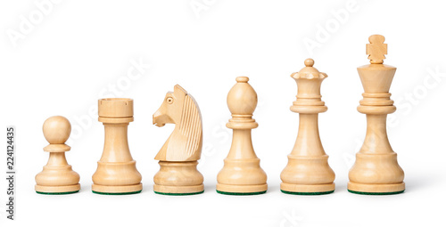 Foto wooden chess pieces