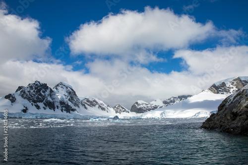 Fotobehang Antarctica ice in the Antarctica with iceberg in the ocean
