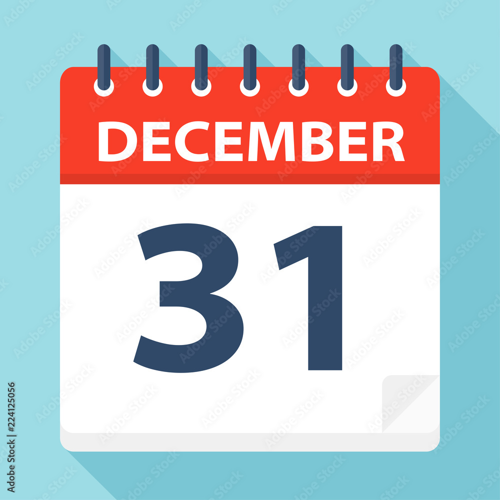 Fototapeta December 31 - Calendar Icon