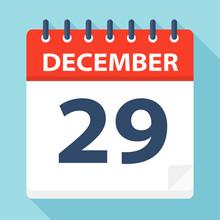 December 29 - Calendar Icon