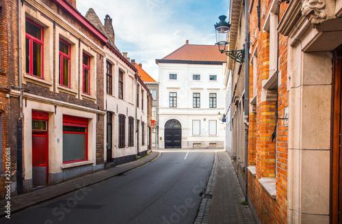 Clean Bruges street