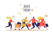 Black Friday Sale Event. Flat ...