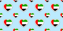 UAE Flag Background. The Unite...
