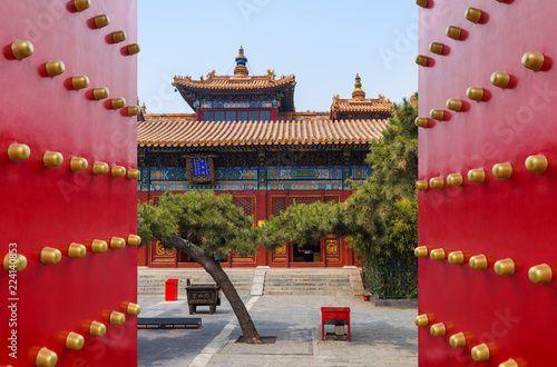 Deurstickers Peking Lama Yonghe Temple in Beijing China