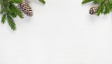 Christmas Fir Branches With Co...