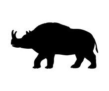 Brontotherium Rhinoceros Silhouette Extinct Mammal Animal