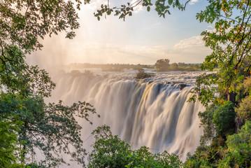 Victoria falls on Zambezi river, between Zambia and Zimbabwe
