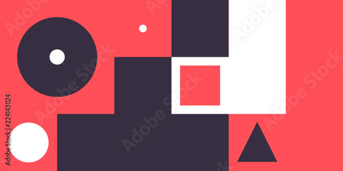 Photo  Minimal geometric web banner design vector template