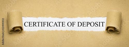 Fototapeta Certificate od deposit obraz