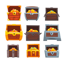 Collection Of Wooden Chests Wi...