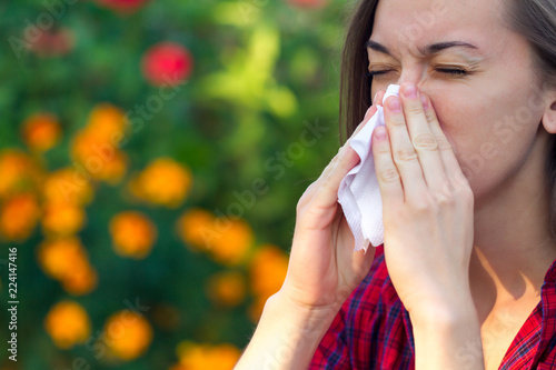 Canvas Print Allergy to flowering